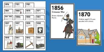 The Victorians Zig Zag Timeline - Queen Victoria, Albert, Great Exhibition, chronological
