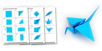 Origami Crane Activity Instructions - origami, crane, activity