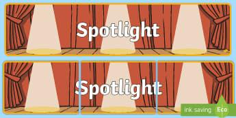 Spotlight Display Banner - Spotlight Display Banner - abnner, banners, spotlights, spot light, drama, movies, movie, film, star