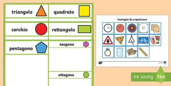 Metti in ordine le Forme 2D - forme, geometria, 2D, esercizio, attività, italiano, italian