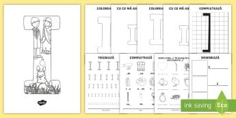 Consolidarea literei I Broșură - alfabetul, alfabetar, litere, sunete, grafisme,Romanian