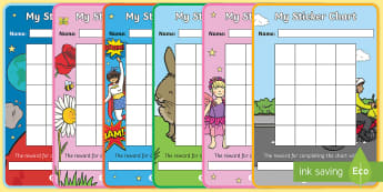 My Sticker Reward Chart - Reward Chart, School reward, Behaviour chart, SEN chart, Daily routine chart