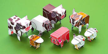 Enkl 3D Animal Models - enkl, 3d, animal models, animals, models, paper, craft