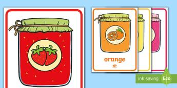 Pots de confiture et couleurs Flashcards-French - EYFS-KS1 La Chandeleur (candlemass),French