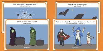 Halloween Activity Worksheets Arabic Translation - arabic, halloween, hallowe'en, activity, worksheets