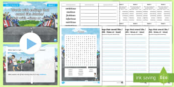 Year 5 Term 1A Week 2 Spelling Pack - Spelling Lists, Word Lists, Autumn Term, List Pack, SPaG, ious, tious, spelling patterns