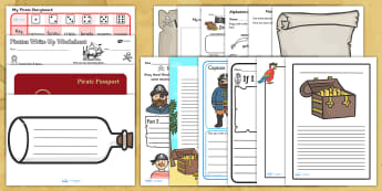 Pirate Themed Writing Activity Pack - write, classroom activities