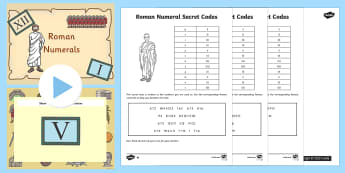 Roman Numerals Task Setter Powerpoint and Worksheets - roman numerals, task setter, powerpoint, worksheets, roman numerals powerpoint, numeracy, maths
