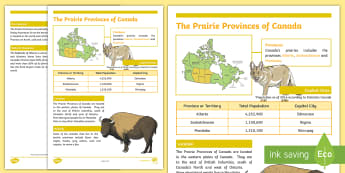 The Prairie Provinces of Canada Fact File - Earth Day, Regions of Canada, Prairie Provinces, Canada, Canada Day, Canada's 150th Birthday, Socia