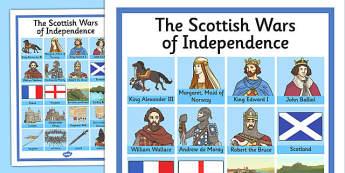 The Scottish Wars of Independence Key Word Grid - scottish, wars