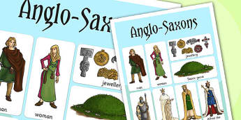 Anglo Saxons Vocabulary Mat - anglo saxons, history, key words