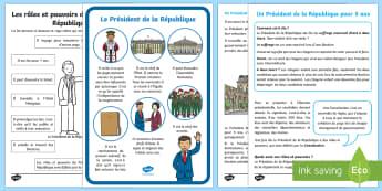 Pack de ressources : Le rôle du Président de la République - élection présidentielle, presidential election, élections, election,  Président de la Républiqu