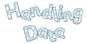 'Handling Data' Display Lettering - handling data lettering, handling data, handling data display, handling data themed lettering, ks2 maths display, ks2