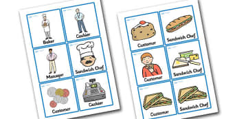 Sandwich Shop Role Play Badges - sandwich shop, role play, badges, role play badges, sandwich shop badges, badges for sandwich shop, sandwich shop people