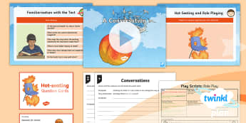 PlanIt Y4 Explorers: James and the Giant Peach Lesson Pack Play Scripts 4 - Explorers: James and the Giant Peach, Roald Dahl, hotseating, questioning, role playing, character,