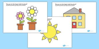 2D Shape Pictures English/Polish - polish, translation, english, 2d shape, shapes, 2d, pictures, activity, display