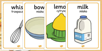 Pancake Day Recipe Posters Polish Translation - polish translate