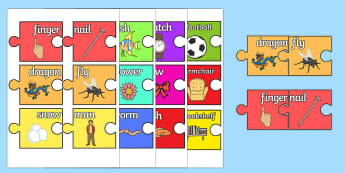 Compound Words Jigsaw Pairing Game - compound words jigsaw paring game, compound words, game, activity, fun, paring, jigsaw, pairing words, comounding
