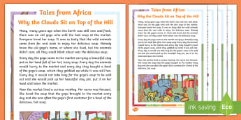 Tales from Africa – Why the Clouds sit on Top of the Hill Story - story, african tale, clouds, myth, monkey, magic potjie, gogo - story, african tale, clouds, myth, monkey, magic potjie, gogo