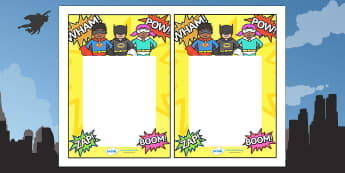 Editable Note From Teacher (Superhero Themed) - editable note from teacher, superhero themed, note from teacher, notes, note, comment, parent, teacher's, editable, superheroes, superhero