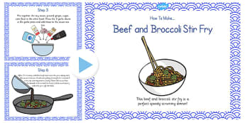 Beef and Broccoli Stir Fry Recipe PowerPoint - stir fry, recipe