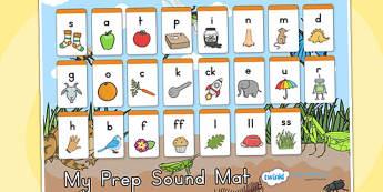 Minibeasts Prep Sound Mat - sounds, sounds mat, prep sounds