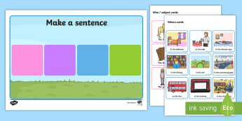 Make a Sentence Who What Doing Where When - australia, sentence, who, what