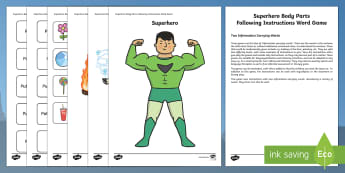 Superhero Following Instructions 2 ICW Game - superhero, superheroes, following instructions, follow, instructions, icw game