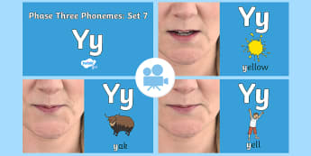 Phase Three Phonemes: Set 7: 'y' Video - Phonics, Letters and Sounds, Grapheme, pronunciation, qu,y,z,zz