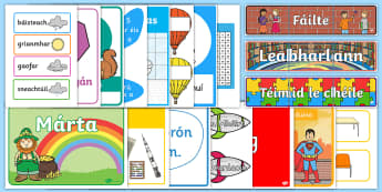 Classroom Essentials Display Pack - ROI Back to School September Packs, Gaeilge, Irish, Seomra Ranga, classroom essentials, set up, disp