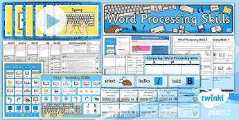 Computing: Word Processing Skills Year 1 Unit Pack