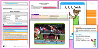 Foundation PE (Reception) - Games - The Olympics Lesson Pack 2: Throw That Ball - EYFS, PE, Physical Development, Planning