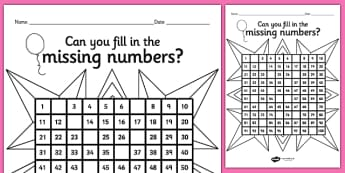 Diwali Missing Numbers Number Square - counting aid, maths, hindu