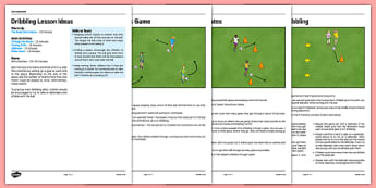 LKS2 Football Skills 1: Dribbling Lesson Pack - football, PE, sport, exercise, KS2, LKS2, Key Stage 2,  year 3, year 4, skills, physical education, ball skills, team sports
