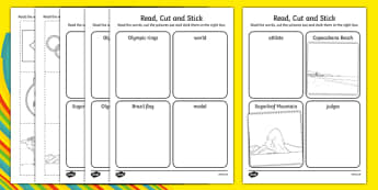 Rio Olympics Read Cut And Stick Activity - sport event, rio, 2016, ks1, ks2, eyfs