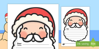 Letter To Santa Writing Template English/Afrikaans - Letter To Santa Template - writing,letter to santa, write your own letter to santa, wishlist, christ