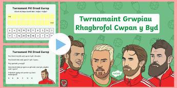 Pwerpwynt Twrnamaint Grwpiau Rhagbrofol Cwpan y Byd Rhifedd Blwyddyn 1 - Tîm pêl-droed Cenedlaethol Cymru, Wales Football Team, Wales, Football, Pel-droed, pel-droed, rhif