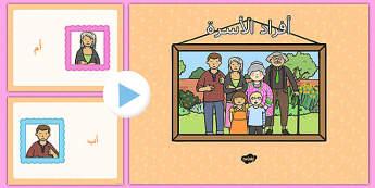 بوربوينت أفراد الأسرة - أفراد الأسرة، وسائل تعليمية