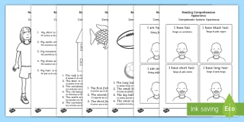 Reading Comprehension Activity Sheets English/Spanish - Reading Comprehension Worksheets - reading comprehension, comprehension worksheets, reading comprehe
