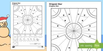 Simple Origami Christmas Star Paper Craft English/Afrikaans - Desember, make, creative, create, fold, Desember, kreatief, EAL