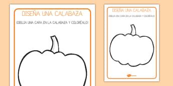 Ficha - Diseña una calabaza
