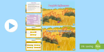 People's Influences Interactive Activity Pack - Year 5, ACHASSK112, information, Australian Curriculum, Geography, Vocabulary, Display, Language, Fo