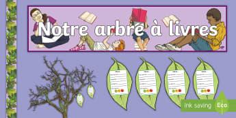 Posters : Notre arbre à livres  - Lecture, Français, lire, livres, affiche, cycle 2, cycle 3, cycle 1, reading ,French