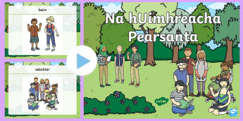 Na hUimhreacha Pearsanta PowerPoint - duine, beirt, counting people, irish, mé féin, ,Irish
