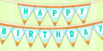 Under the Sea Themed Birthday Party Happy Birthday Bunting