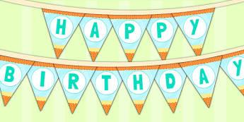 Under the Sea Themed Birthday Party Happy Birthday Bunting