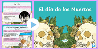 Day of the Death in Mexico PowerPoint - halloween, presentation, whole, class, introduction, mexican, party
