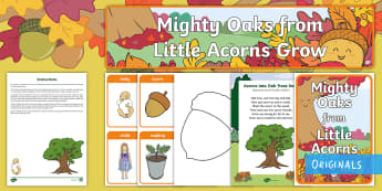 Little Acorns Grow Resource Pack - Twinkl Originals, Twinkl Fiction, story, fiction, books, reading, PSED, Early Years, EYFS, acorn, oa