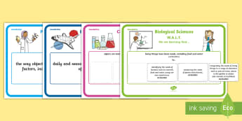 Foundation Science Display Posters - Science, Australian Curriculum, science understandings, prep, kinder, reception, WALT, learning outc