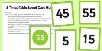 5 Times Table Speed Game - 5 times table, 5, times table, speed game, game, activity